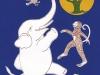 Четверо дружных.Слон, обезьяна, заяц и куропатка на поляне перед волшебным деревом