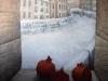 """The granates.Winter "" 120х110 canvas/acrylic"
